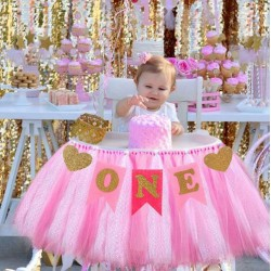Banner Love my first Birthday roze