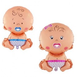 Grote folie ballonnen set Boy or Girl
