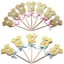 Cupcake prikkers Gender reveal