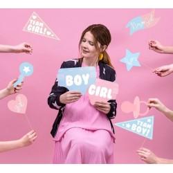 Genderreveal fotoprops baby love pastel