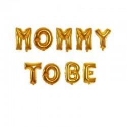 Folieballonnen set Mommy to Be goud