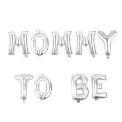 Folieballonnen set Mommy to Be zilver