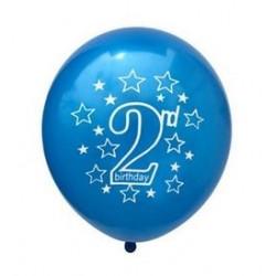 Ballonnen 2 jaar donker blauw met witte opdruk