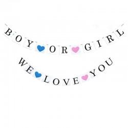 Banner set Boy or Girl en We Love You