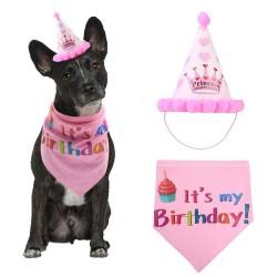 Honden verjaardags set roze