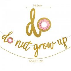 Donut Grow Up slinger goud met roze donut
