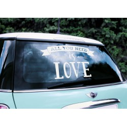 Auto decoratie sticker All You Need is Love wit