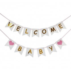 Dubbele slinger Welcome Baby Girl