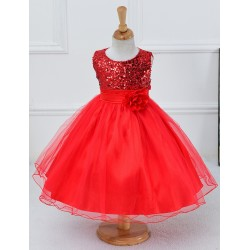 Feestelijk rood jurkje