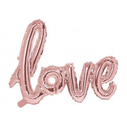 Love XL folieballon rosé goud 73 x 59 cm