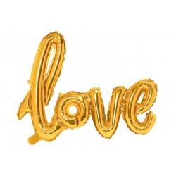 Love XL folieballon goud 73 x 59 cm