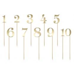 Tafel- of taart nummers goud