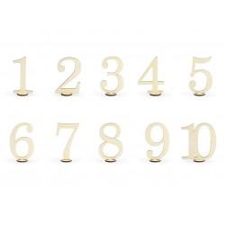 Tafelnummers van hout