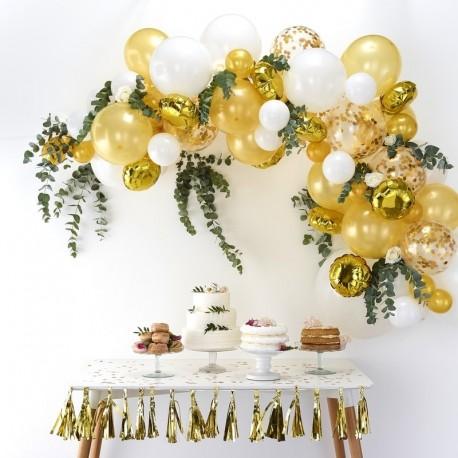 Ballonboog goud, wit en transparant