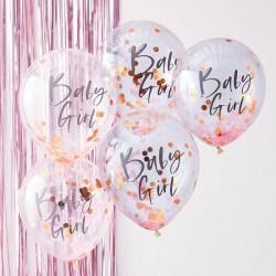 Confetti ballonnen Baby Girl Twinkle Twinkle Little Star