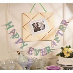 Letterbanner Happy Ever After mint en lila