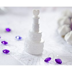 Bellenblaas White weddingcake per doos met 24 stuks