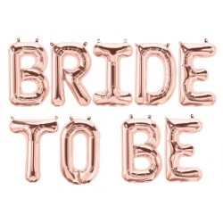 Grote rose gouden letter ballon decoratie set Bride to Be