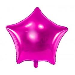 Grote stervormige folie ballonnen donker roze 48 cm