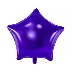 Grote stervormige folie ballonnen violet 48 cm