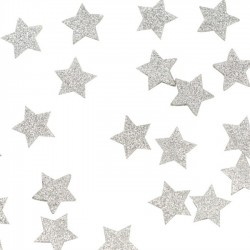 Confetti Metallic Perfection Silver star
