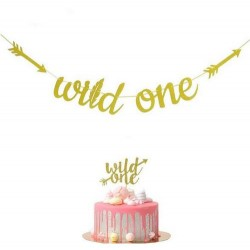 Banner Wild One tribal gold