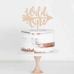 Houten taart topper Wild One