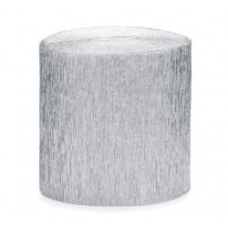 Crèpe slinger met een lengte van 10 meter zilver