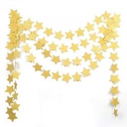 Sterrenslinger van 2 meter in de kleuren goud