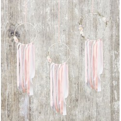 Dreamcather decoratie set pastel 3-delig
