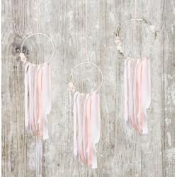 Dreamcather decoratie set pastel 3-delig