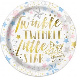 Bordjes Twinkle Twinkle Little Star pastel met goud