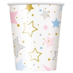 Bekertjes pastel stars met goud