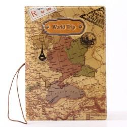 Beschermhoesje voor je paspoort world traveller vintage