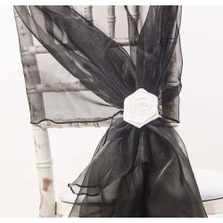 Organza stoelstrik zwart
