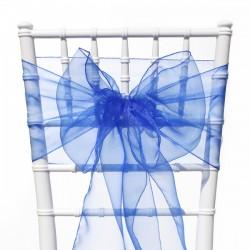 Organza stoelstrik royal blue
