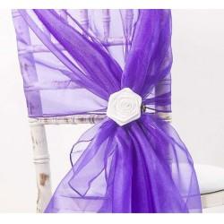 Organza stoelstrik paars