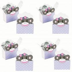 Cute Monkey pak met 12 geschenkdoosjes