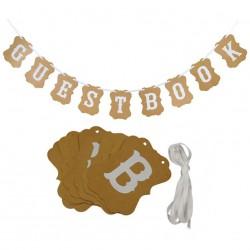 Banner Guestbook rustique