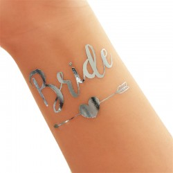 Tatoeage Bride en Bride's Bitches zilverkleurig