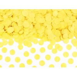 Confetti circles van papier in de kleur geel