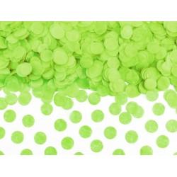Confetti circles van papier in de kleur groen