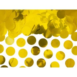 Confetti circles van papier in de kleur goud