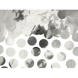 Confetti circles van papier in de kleur zilver