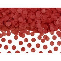 Confetti circles van papier in de kleur rood