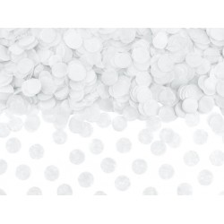 Confetti circles van papier in de kleur wit