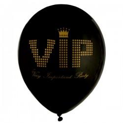 Zakje met 8 VIP ballonnen zwart met goud