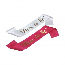 Rode of witte sjerp met gouden letters en hartjes Mom to Be