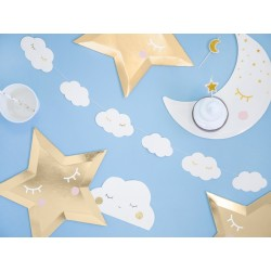 Little Star witte wolk gezichtjes slinger