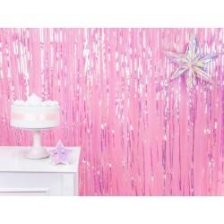 Background of party gordijn iridescent